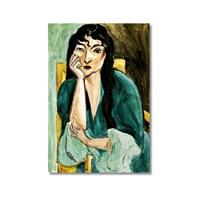Tictac Düşünen Kadın Kanvas Tablo - 60X90 Cm
