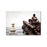 Tictac Piyon Kanvas Tablo - 40X60 Cm