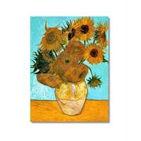 Tictac Van Gogh Ay Çiçekleri Kanvas Tablo - 50X75 Cm