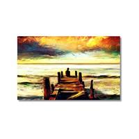 Tictac İskelede Kanvas Tablo - 40X60 Cm