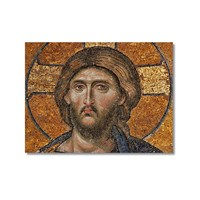 Tictac İsa Mozaik Kanvas Tablo - 60X90 Cm