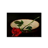 Tictac Kırmızı Gül Kanvas Tablo - 40X60 Cm