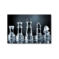 Tictac Satranç Taşları 4 Kanvas Tablo - 50X75 Cm