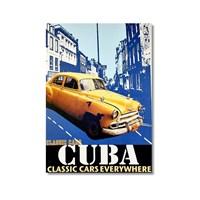 Tictac Küba Klasik Arabalar Kanvas Tablo - 60X90 Cm