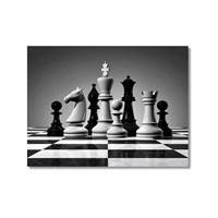 Tictac Satranç Taşları 5 Kanvas Tablo - 50X75 Cm