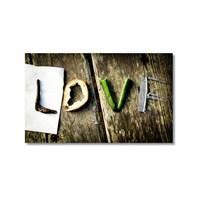 Tictac Love Kanvas Tablo - 50X75 Cm