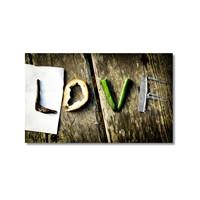 Tictac Love Kanvas Tablo - 40X60 Cm