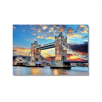 Tictac London Bridge Kanvas Tablo - 60X90 Cm