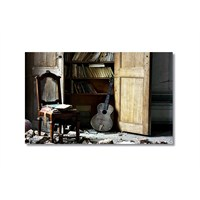 Tictac Eski Gitar 1 Kanvas Tablo - 50X75 Cm