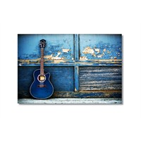 Tictac Mavi Gitar Kanvas Tablo - 40X60 Cm