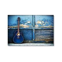 Tictac Mavi Gitar Kanvas Tablo - 60X90 Cm