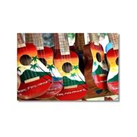 Tictac Renkli Gitarlar 2 Kanvas Tablo - 50X75 Cm