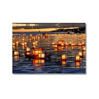 Tictac Denizdeki Fenerler Kanvas Tablo - 50X75 Cm