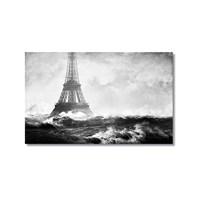 Tictac Denizde Eyfel Kanvas Tablo - 40X60 Cm