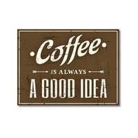 Tictac Coffee Tabela Kanvas Tablo - 50X75 Cm