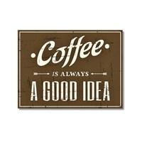 Tictac Coffee Tabela Kanvas Tablo - 40X60 Cm