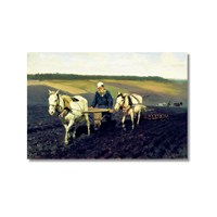 Tictac Leo Tolstoy Kanvas Tablo - 60X90 Cm