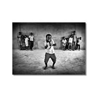 Tictac Dans Eden Çocuk Kanvas Tablo - 50X75 Cm