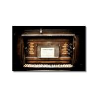 Tictac Eski Piano Kanvas Tablo - 50X75 Cm