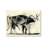 Tictac Picasso Boğa Kanvas Tablo - 60X90 Cm
