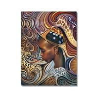 Tictac Afrikalı Kadın Kanvas Tablo - 40X60 Cm