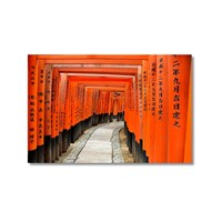Tictac Turuncu Tünel Kanvas Tablo - 40X60 Cm