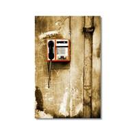 Tictac Ankesörlü Telefon Kanvas Tablo - 40X60 Cm
