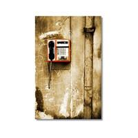 Tictac Ankesörlü Telefon Kanvas Tablo - 60X90 Cm