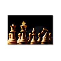 Tictac Satranç Taşları 6 Kanvas Tablo - 50X75 Cm