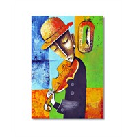 Tictac Dekoratif Müzik Serisi - Keman Kanvas Tablo - 50X75 Cm