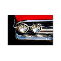 Tictac Kırmızı İmpala Kanvas Tablo - 50X75 Cm