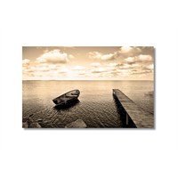 Tictac İskele Ve Sandal Kanvas Tablo - 50X75 Cm