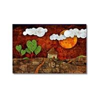 Tictac Dekoratif 10 Kanvas Tablo - 60X90 Cm