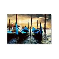 Tictac Venedik Gondolları Kanvas Tablo - 60X90 Cm