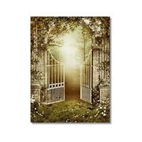 Tictac Bahçedeki Kapı Kanvas Tablo - 60X90 Cm