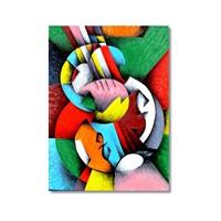 Tictac Renkli Şekiller Kanvas Tablo - 40X60 Cm