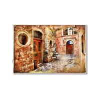 Tictac Eski Sokak Kanvas Tablo - 50X75 Cm
