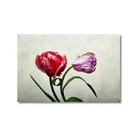 Tictac Dekoratif Çiçekler Kanvas Tablo - 50X75 Cm