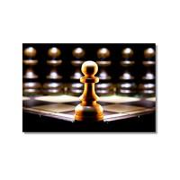 Tictac Yalnız Piyon Kanvas Tablo - 40X60 Cm