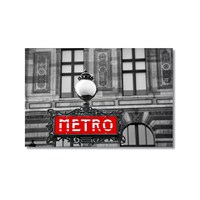 Tictac Metro Kanvas Tablo - 50X75 Cm