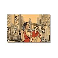 Tictac Jazz 5 Kanvas Tablo - 60X90 Cm