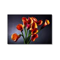 Tictac Dekoratif Çiçekler 3 Kanvas Tablo - 50X75 Cm