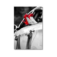 Tictac Kırmızı Ayakkabılar Kanvas Tablo - 50X75 Cm