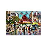 Tictac Moulin Rouge Kanvas Tablo - 50X75 Cm