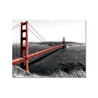 Tictac Golden Gate Kanvas Tablo - 50X75 Cm