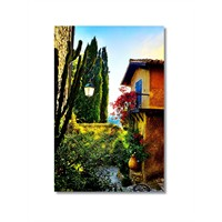 Tictac Doğadaki Ev Kanvas Tablo - 40X60 Cm