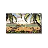 Tictac Sahildeki İskele Kanvas Tablo - 40X60 Cm