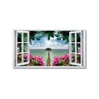 Tictac Uzun Pencere Kanvas Tablo - 50X75 Cm