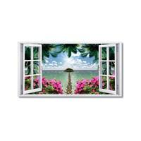 Tictac Uzun Pencere Kanvas Tablo - 60X90 Cm