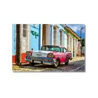 Tictac Küba Arabaları Kanvas Tablo - 50X75 Cm
